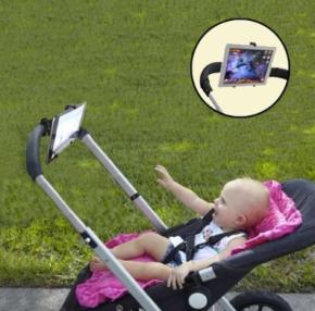 stroller wtih tablet holder